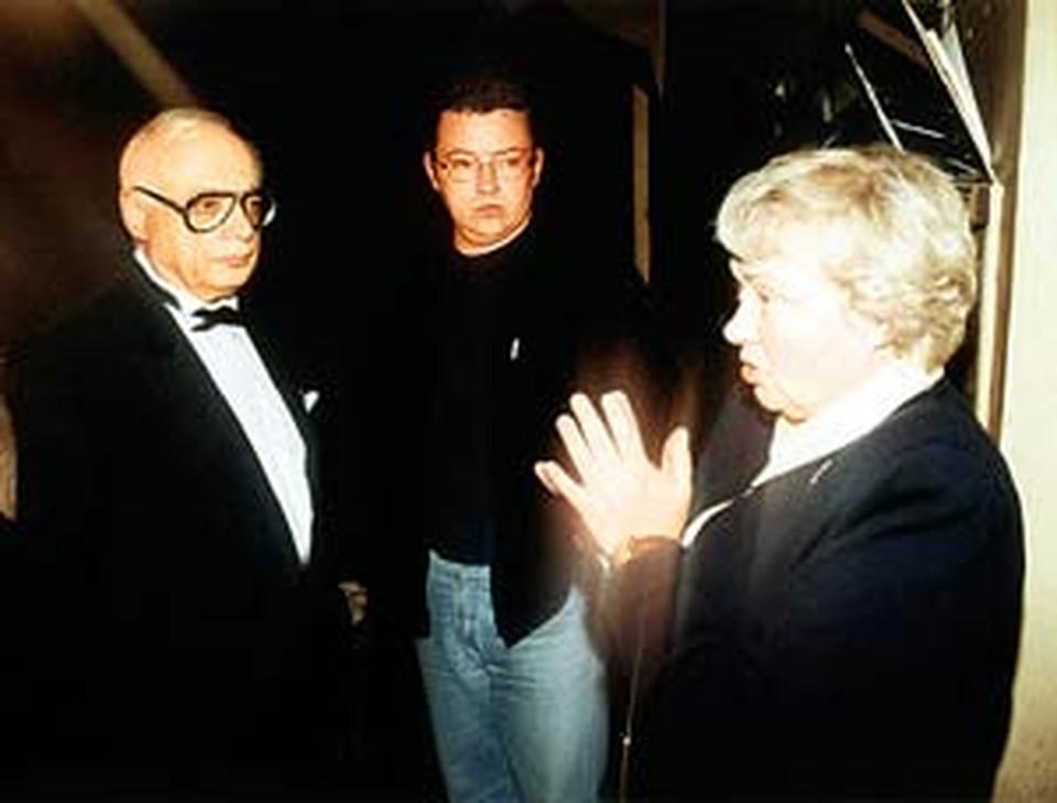 Борис Крюк с отчимом Владимиром Ворошиловым и мамой Натальей Стеценко.
