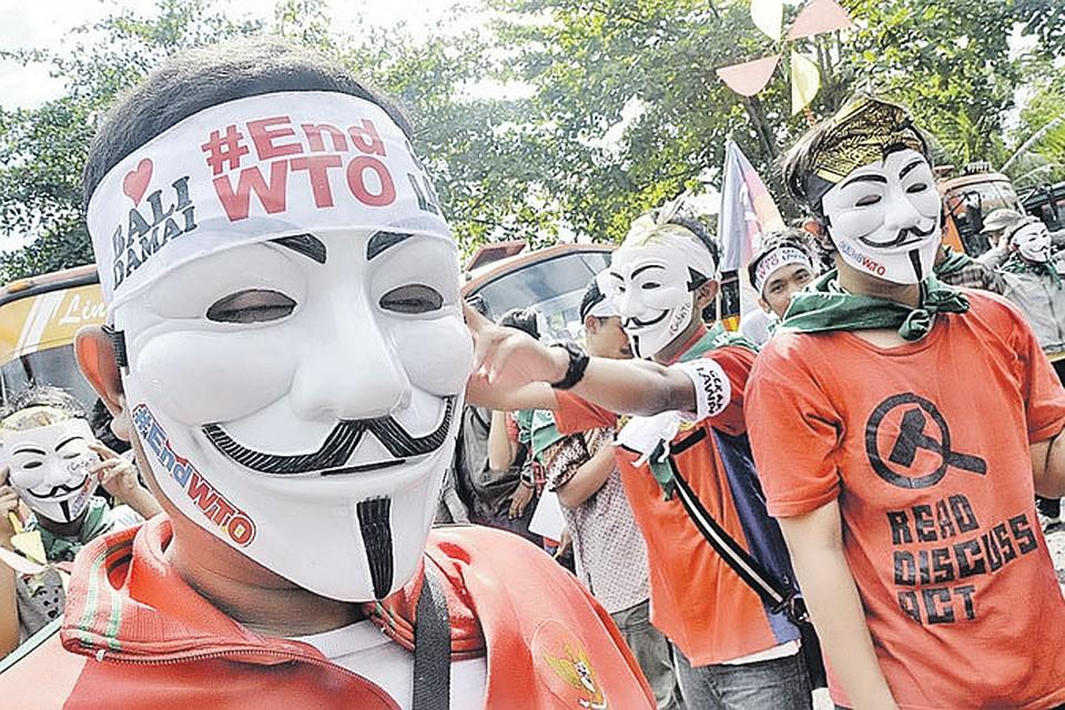 Протесты антиглобалистов преследуют ВТО с момента ее образования. Митинги не обошли и курортный индонезийский остров Бали, где в декабре прошлого года состоялась очередная конференция этой Всемирной организации.