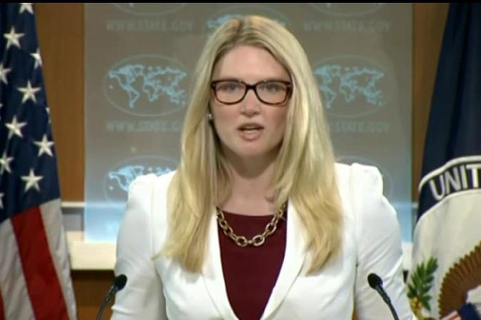 Пресс-секретарь госдепартамента США Мари Харф утверждает, что отправка десантников на Украину не связана с ситуацией на востоке страны