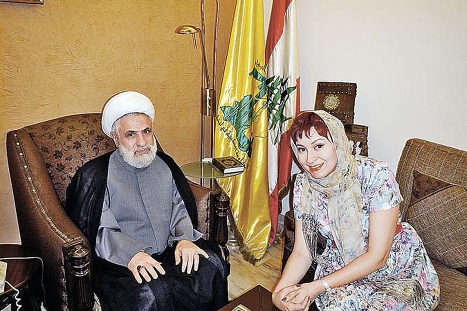 Спецкора «КП» Дарью Асламову шейх Наим Кассем принял всвоей секретной резиденции.