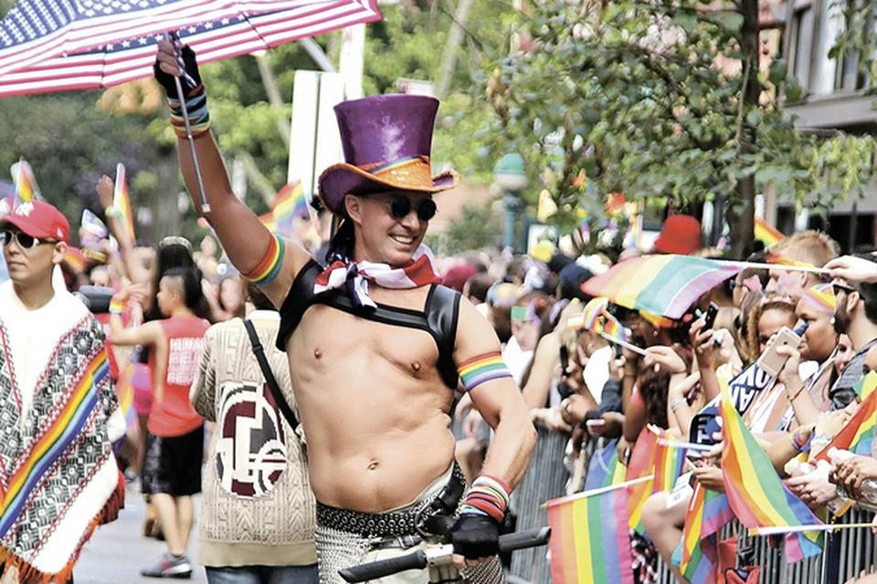 Демонстрации геев обычно выглядят очень ярко - отличная картинка для теленовостей!