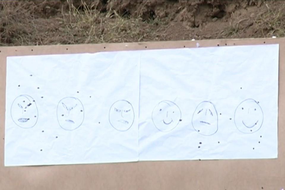 Мишени, в которые стрелял Рамзан Кадыров.