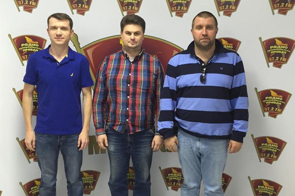 В гостях у бизнесмена Дмитрия Потапенко (справа) и Александра Зюзяева (слева) основатель компании Northwestfur Игорь Фролов.