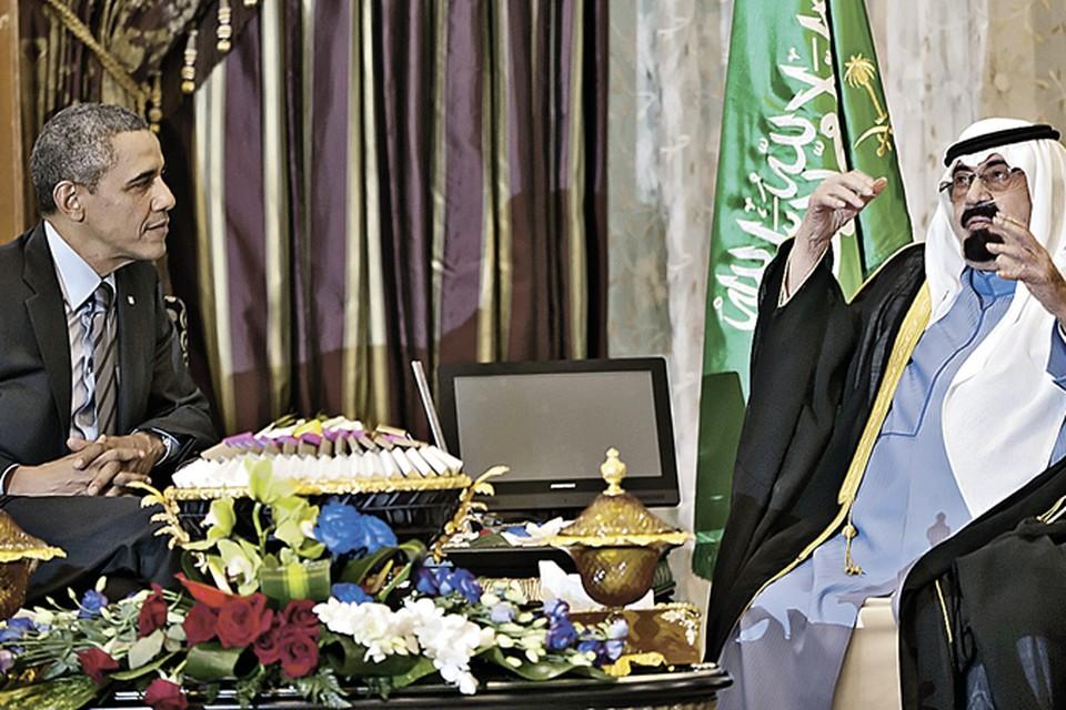 Через 10 дней после воссоединения Крыма с Россией Обама лично прилетел к королю Саудовской Аравии Абдалле! Фото: AP Photo