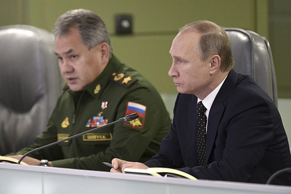 В докладе президенту министр обороны Сергей Шойгу рассказал, что российские ВКС нанесли массированный авиаудар по террористической группировке ИГИЛ