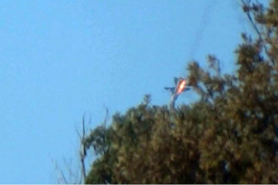 По предварительным данным, пилотам удалось катапультироваться. Фото: Twitter.com