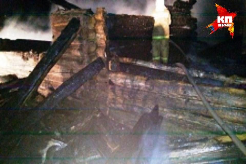 Пожар уничтожил дом.