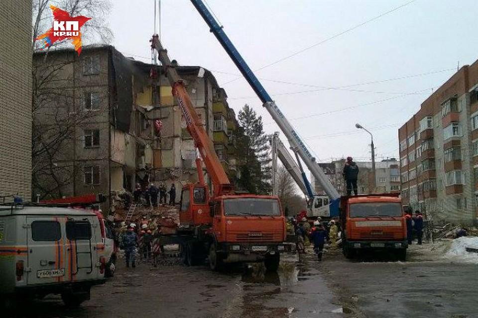 Обрушение подъезда в Ярославле.