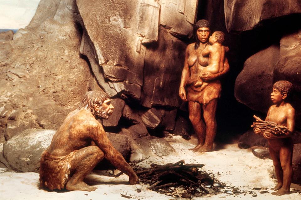 Неандертальцы картинка-ის სურათის შედეგი
