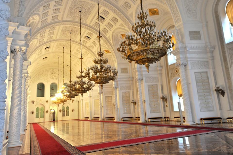Георгиевский зал Большого кремлевского дворца.