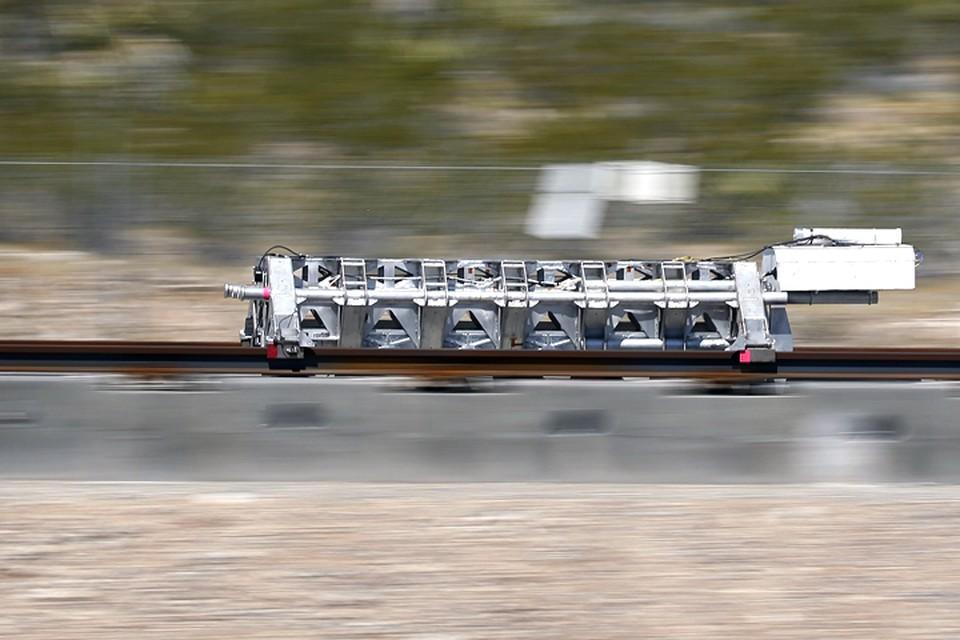 Испытание системы Hyperloop в пустыне Невады