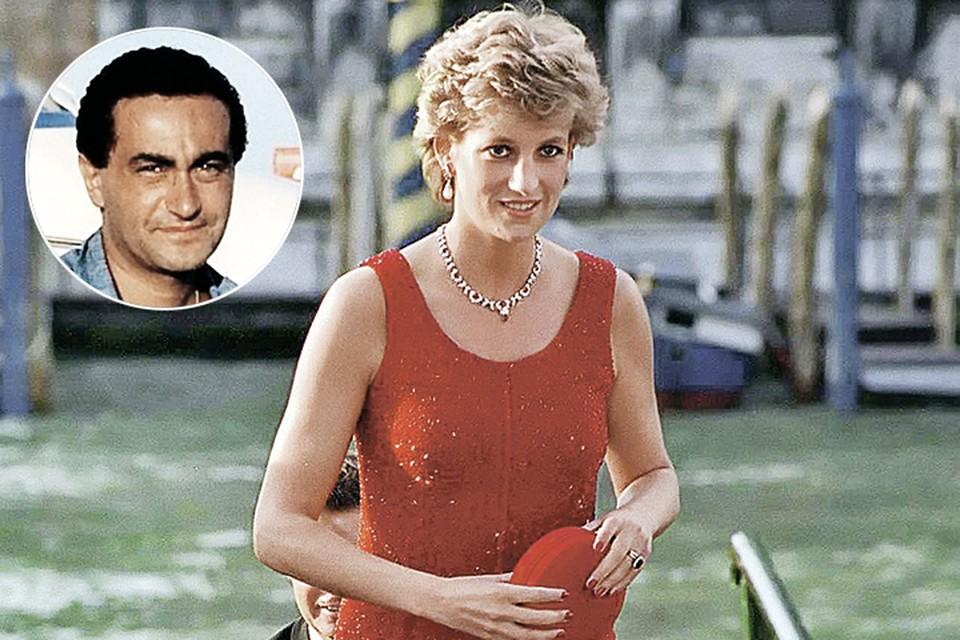 В июне 1997 года Леди Ди начала встречаться с кинопродюсером Доди аль-Файедом (на фото в круге). Фото: Tim Graham/Getty Images
