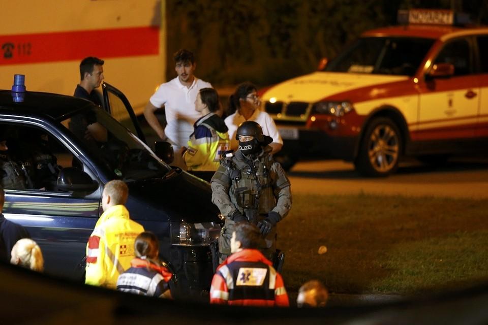 Полиция у места ЧП в Мюнхене