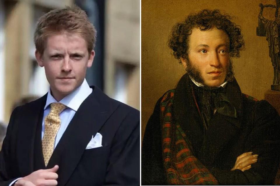 25-летний Хью - новый граф Вестминстерский - дальний потомок Александра Пушкина. Фото: Инстаграм и Википедия.