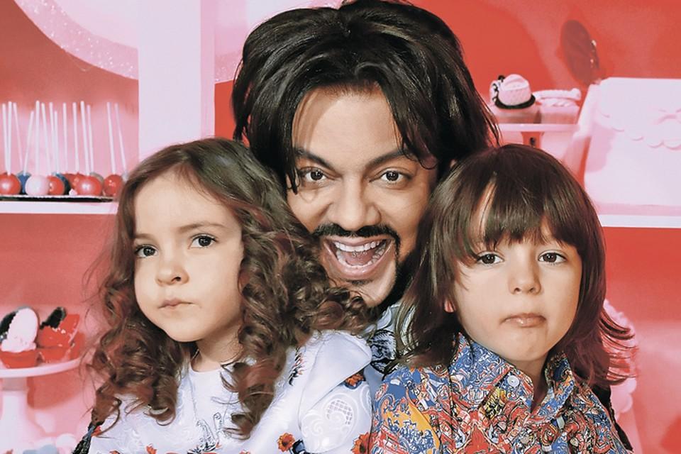 Филипп Киркоров с детьми: Аллой-Викторией и Мартином.