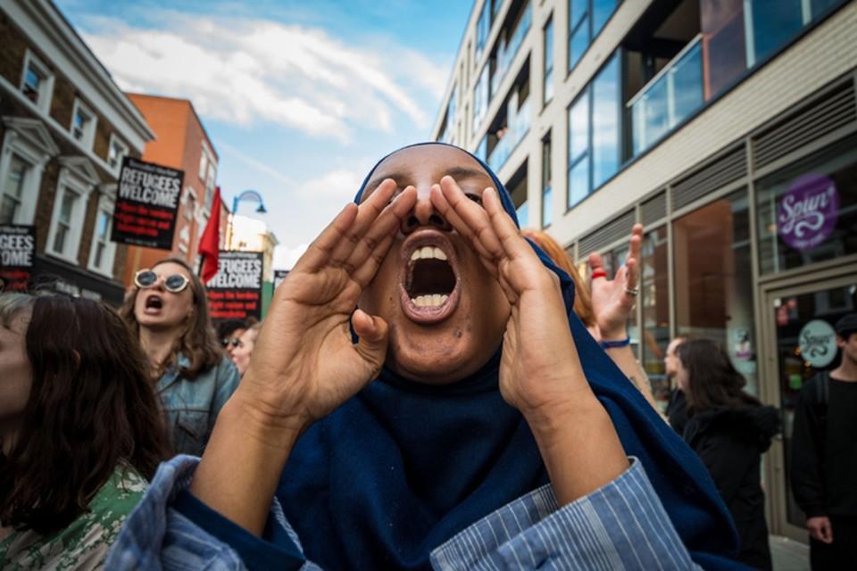 Марш за права мигрантов в Лондоне