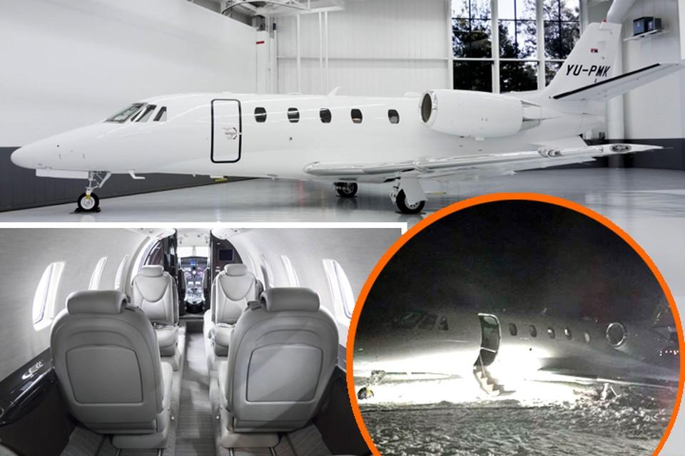 Как выяснила «Комсомолка», самолет, у которого при посадке в Гомеле лопнула покрышка, был совсем новеньким – его выпустили осенью 2016 года. Фото: airpink.com и МЧС РБ.