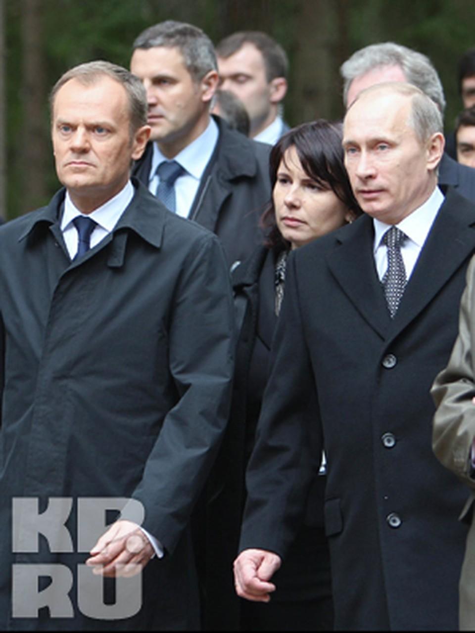 Владимир Путин посетил мемориальный комплекс Катынь