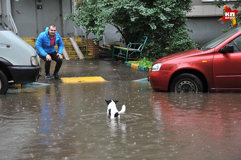 Аномальный ливень затопил столицу