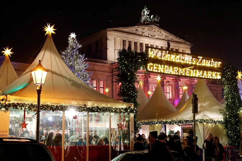 В центре Берлина заработал рождественский рынок
