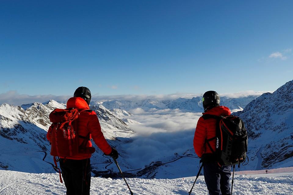 Австрийские Альпы начинают покрываться снегом