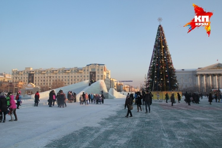 В этом году ледовый городок кардинально отличаются от предыдущих лет
