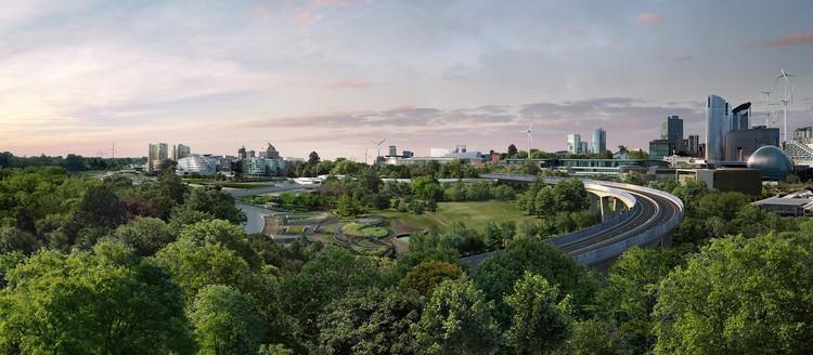 Футуристичный город видится японцам утопающим в зелени, однако, как показывает практика, электричество здесь ни при чем. Фото: Nissan