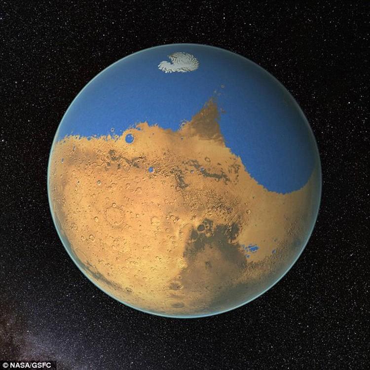 МАрсианский океан мог занимать все северное полушарие.