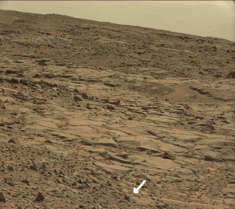 Снимок, который НАСА выложило на свой сайт. На нем исследователи и обнаружли окаменевшее тело.