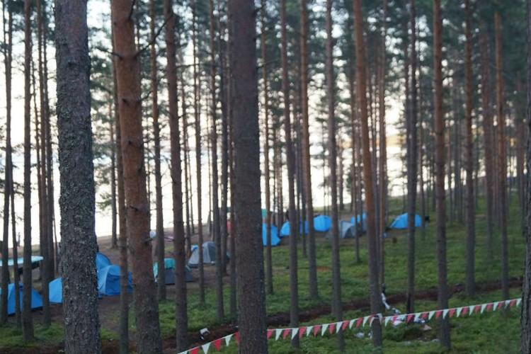В палатках дети жили иногда больше недели.