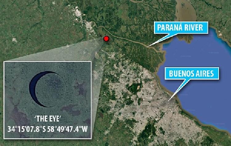 Круглый остров расположен в дельте реки Парана.