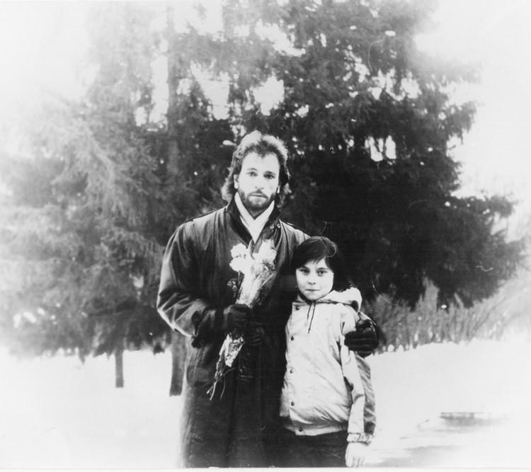 Игорь Тальков с сыном.