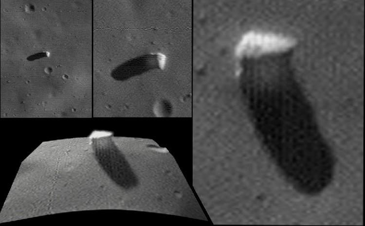 Монолит на Фобосе в подробностях: снимок с борта зонда Mars Express.