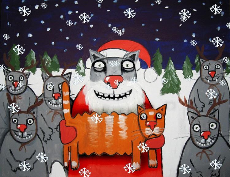 У котов тоже есть свой Дед Мороз