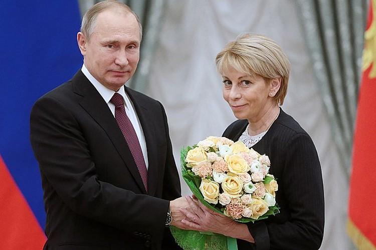 На приеме в Кремле Елизавета Петровна сообщила, что скоро летит в Сирию для оказания гуманитарной помощи. Фото: Михаил Метцель/ТАСС