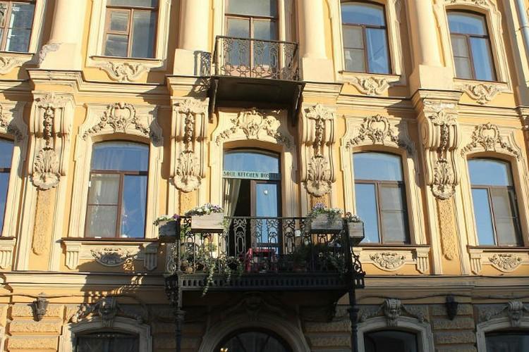 Отель расположился в доходном доме Липина, построенном в XVIII веке Фото: Официальная страница хостела