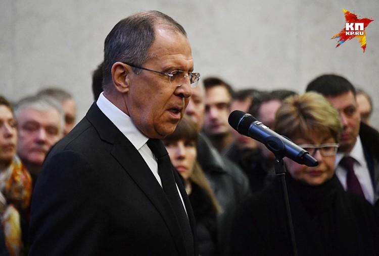 Сергей Лавров пообещал увековечить память о народном дипломате