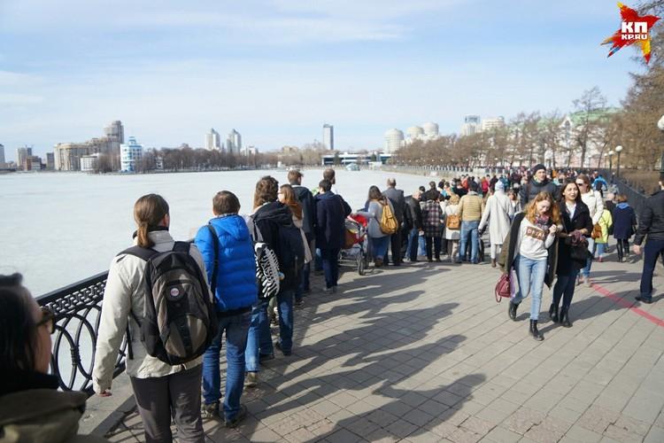 Жители Екатеринбурга прониклись нежностью к водоему