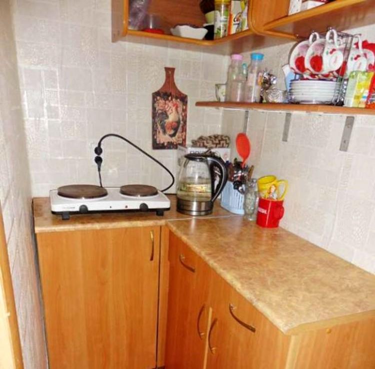 Кухня одной из квартир-студий, которая продается на проспекте Карла Маркса.