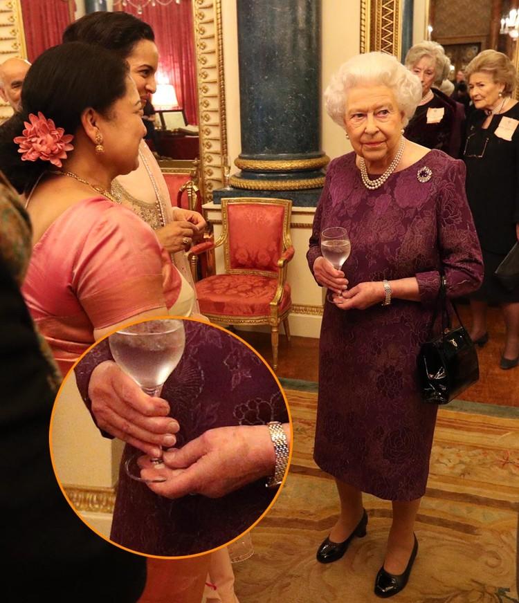 Королева во время приема в честь года Индийской культуры в Британии в Букингемском дворце