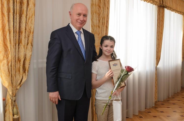 Шестиклассница Наталья Сухарева рассказала, что мечтает работать учителем.