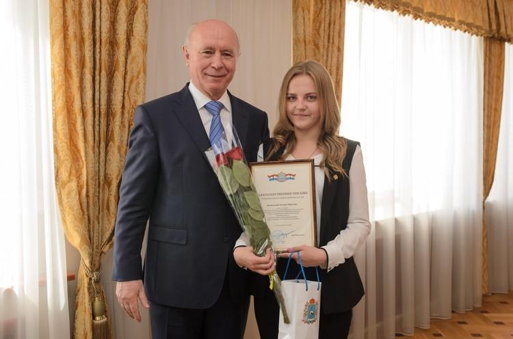 Татьяна Медведева из школы села Майское мечтает стать математиком.