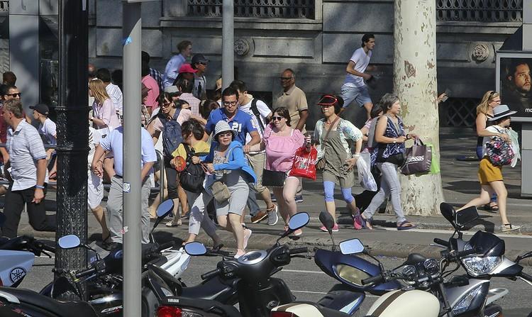 Паника первых минут после теракта.