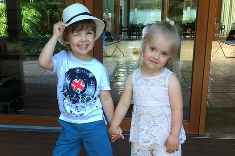 Лиза и Гарри Галкины (3 года)