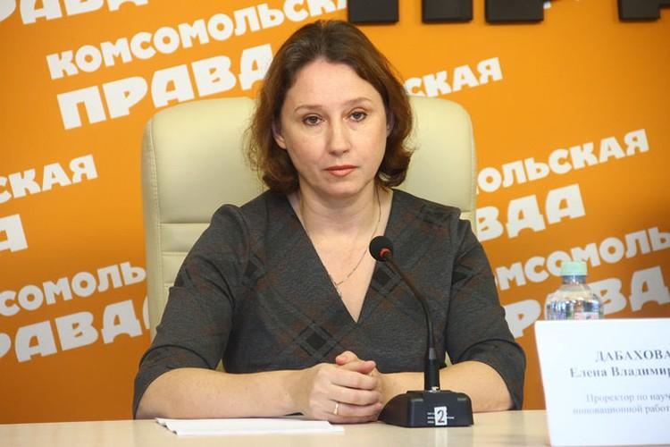 Проректор НГСХА по научной и инновационной работе Елена Дабахова.