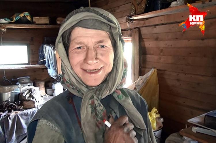Агафья Карповна - единственная оставшаяся в живых из семьи таежных отшельников. Фото: администрация Кемеровской области