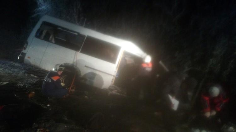 В автобусе погибли 12 человек