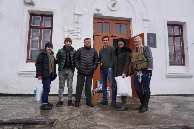 Наша команда добрых дел с главой Саханки - Игорем Георгиевичем Подгорным.