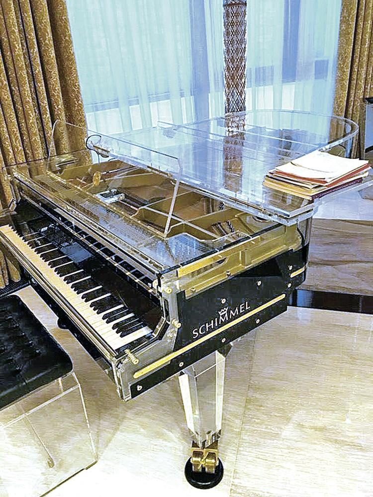Изощренный вкус чиновника потребовал украсить особняк эффектным пианино.