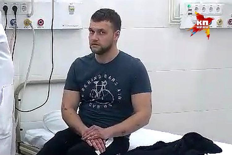 Михаил Трусов рассказал, что люди в зале 15 минут ждали помощи.